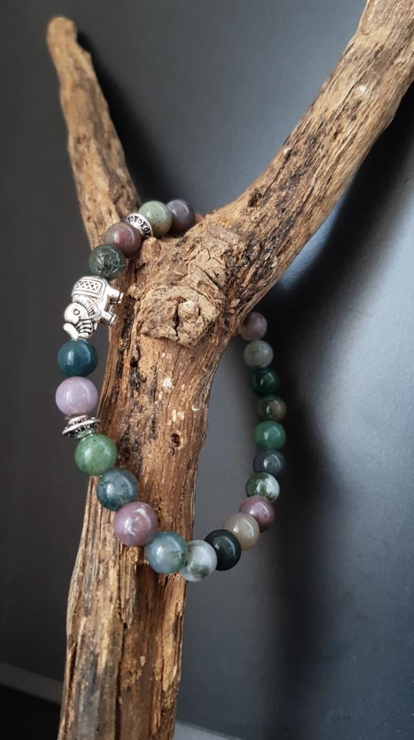 bracelet éléphant agate indienne