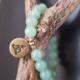 bracelet aventurine verte yogi bronze