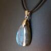 Collier pendentif labradorite bleue