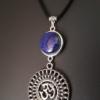 Collier pendentif ethnique tibétain aum Om lapis lazuli