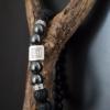 bracelet tibétain hématite onyx