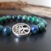 Bracelet arbre de vie azurite malachite