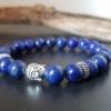 bracelet lapis lazuli bouddha zen