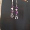 boucles d'oreilles pendantes amethyste spirale tibétain
