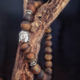 bracelet oeil de tigre poli zen bouddha mixte homme femme