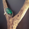 Bague tibétaine réglable ajustable malachite verte pierre fine