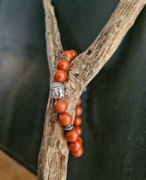 bracelet jaspe rouge zen tibetain